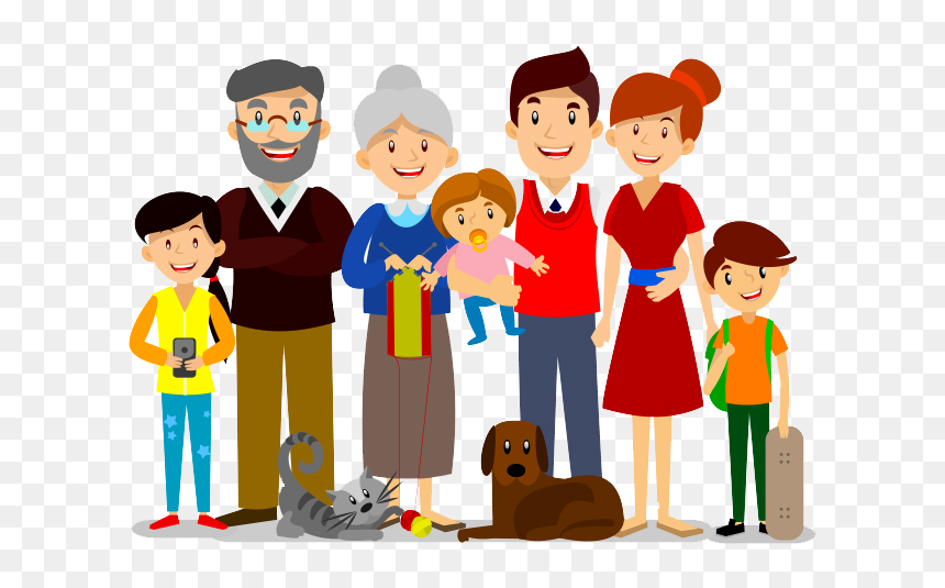 Cartoon Extended Family Hd Png Download Vhv
