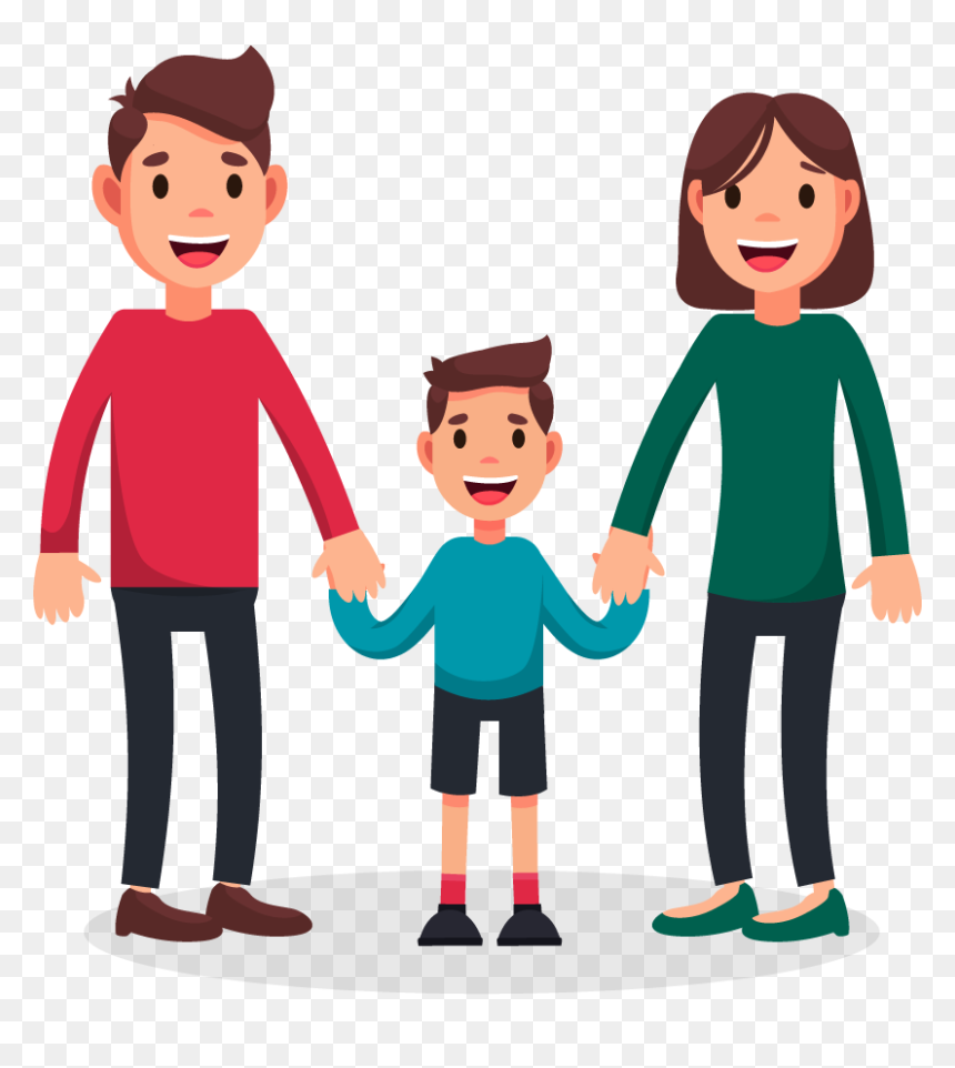 Cartoon Image Of Single Family Hd Png Download Vhv