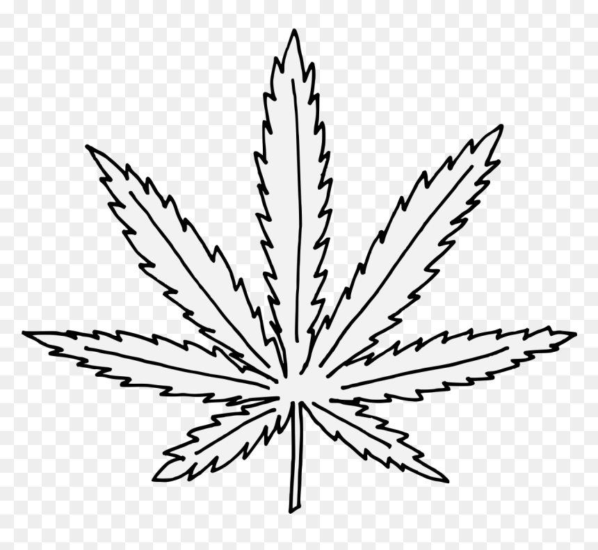 Marijuana Leaf Coloring Page, HD Png Download - Vhv