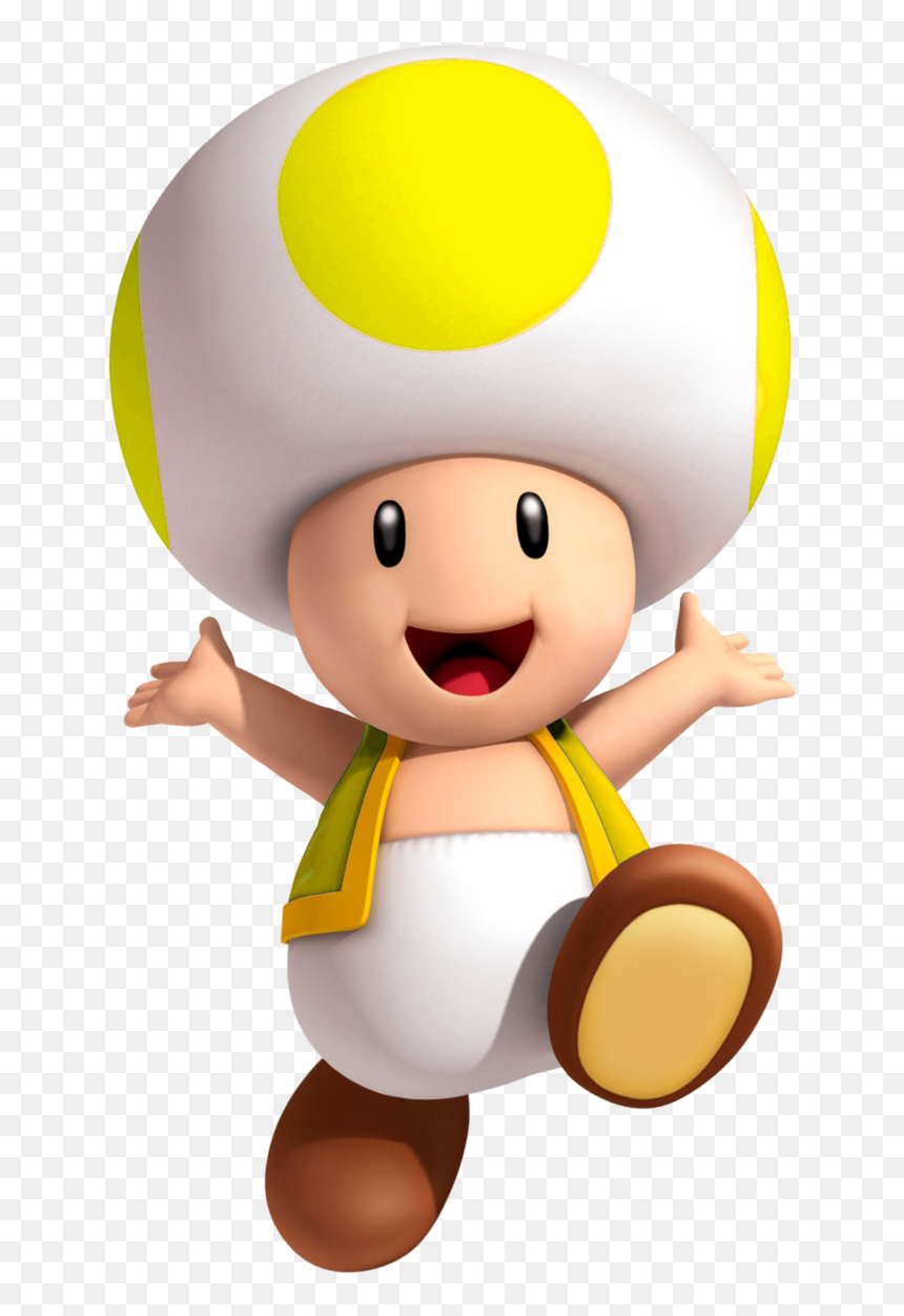 Yellow Toad Super Mario Hd Png Download Vhv