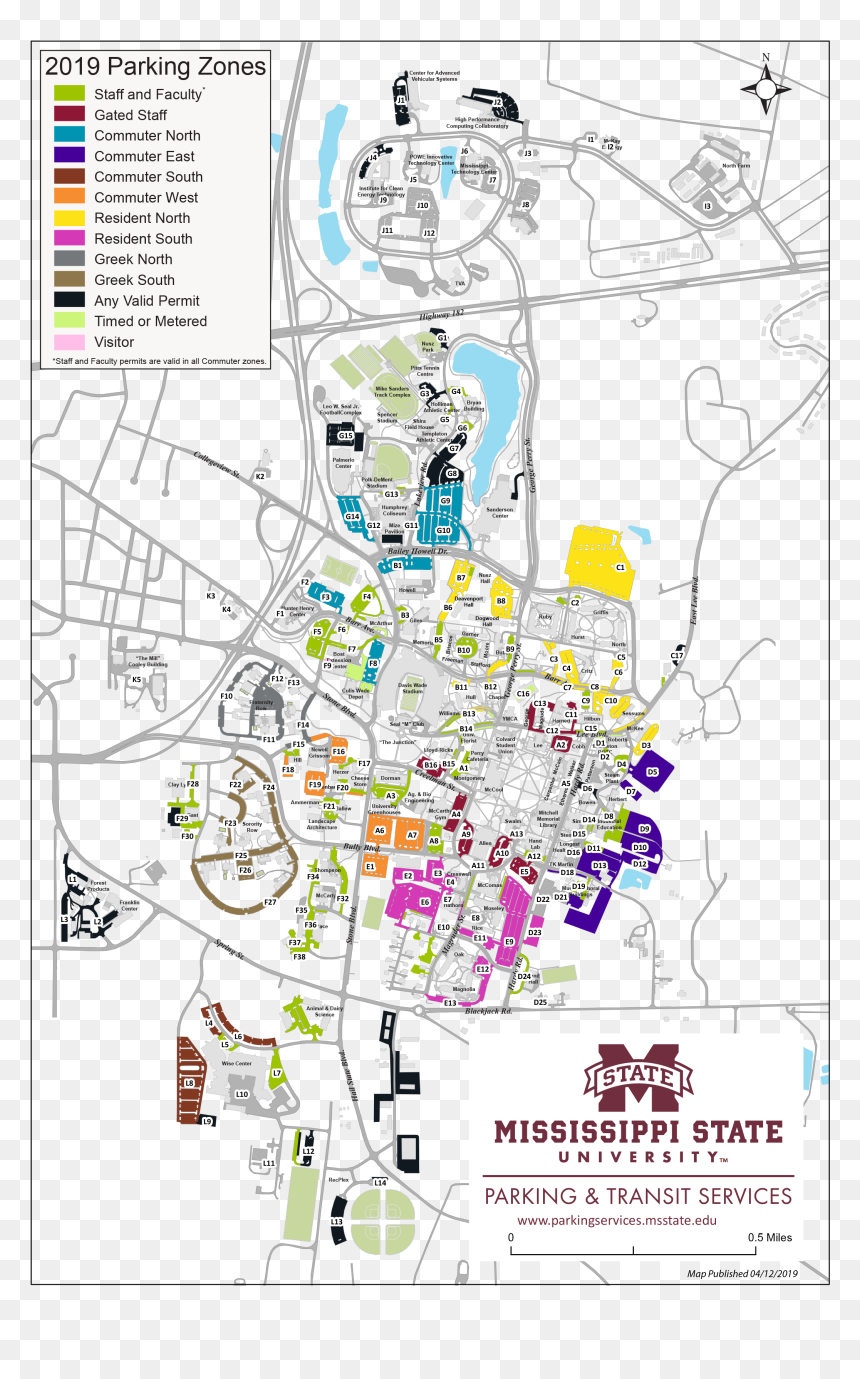 Mississippi State Campus Map Hd Png Download Vhv