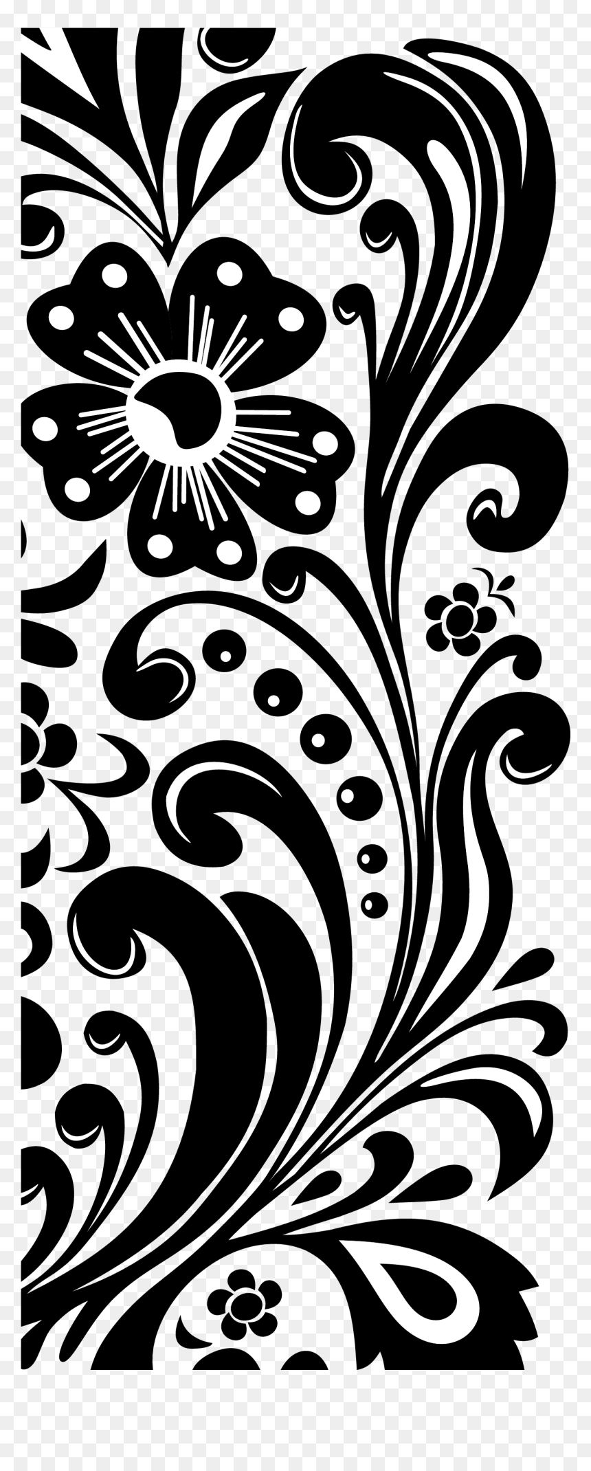 Free Black And White Flower Border, Download Free Clip Art, Free Clip Art  on Clipart Library