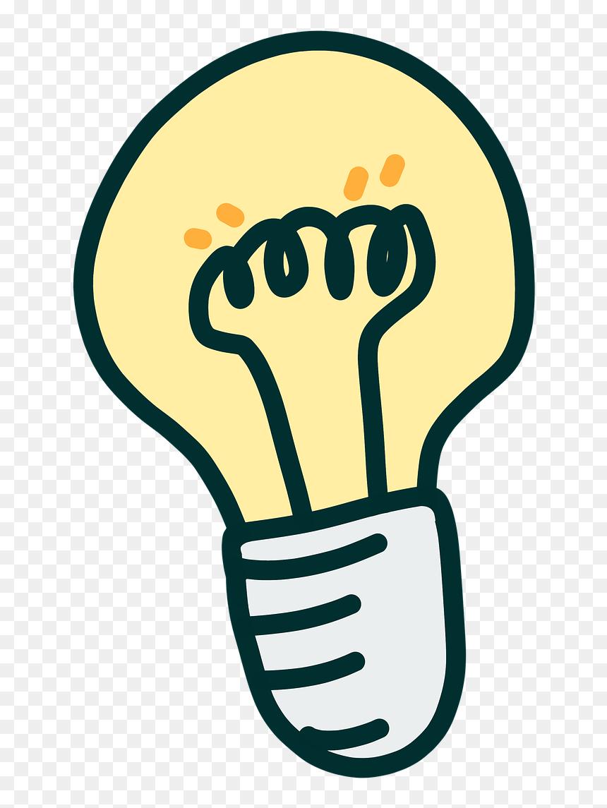 Light Bulb Idea Clipart Png, Transparent Png   vhv
