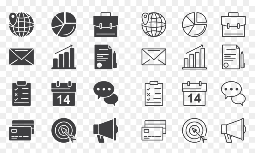 Business Icons Transparent Background Hd Png Download Vhv