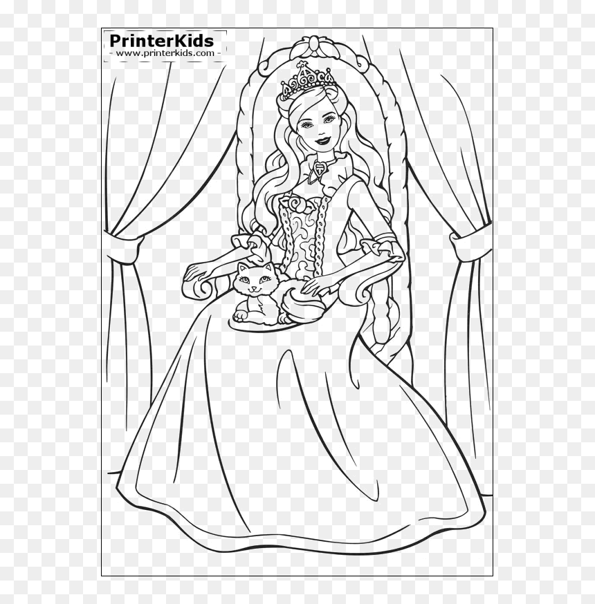 Barbie Princess And The Pauper Coloring Pages Hd Png Download Vhv