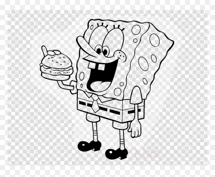 - Spongebob Coloring Pages, HD Png Download - Vhv