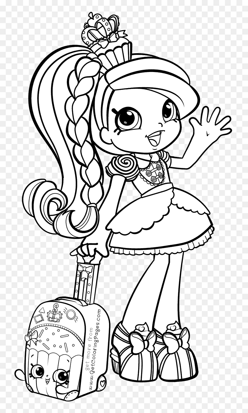 Shopkins Shoppies Coloring Pages, HD Png Download - vhv