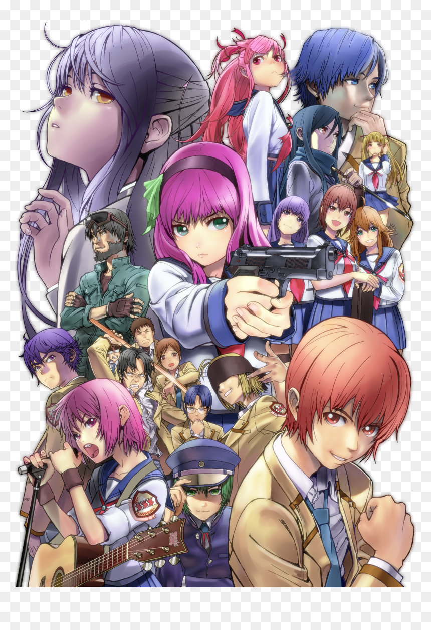 Poster Angel Beats Anime Hd Png Download Vhv