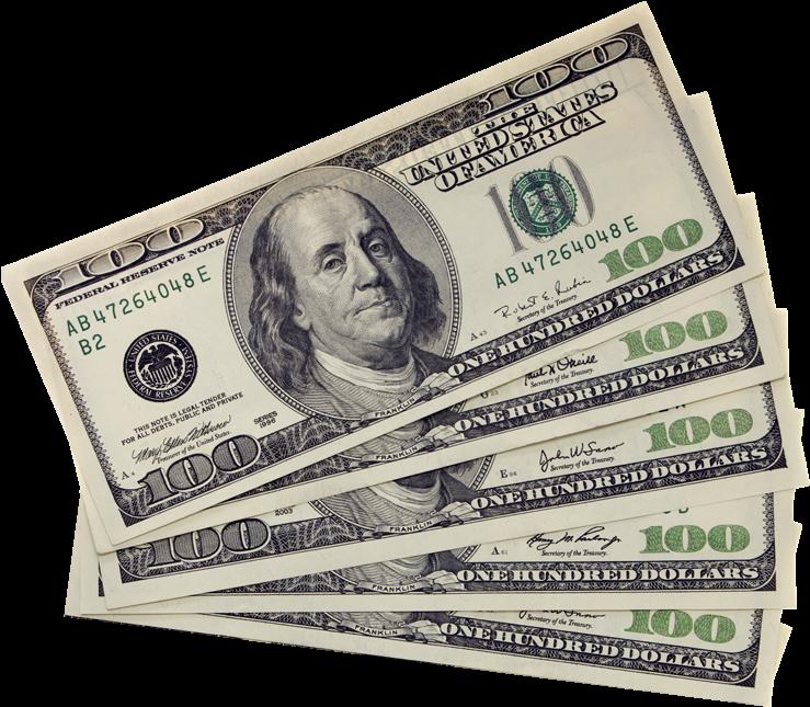 Download Transparent 100 Dollar Bills, HD Png Download - vhv